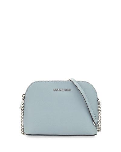 Cindy Large Dome Crossbody Bag, Dusty Blue