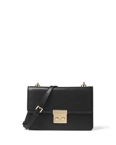 Sloan Large Gusset Crossbody Bag, Black