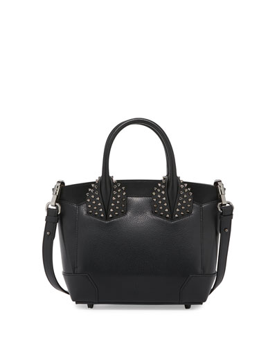 Eloise Small Leather Spike Tote Bag, Black