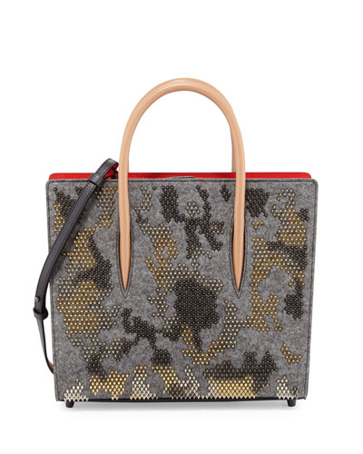 Paloma Medium Spike Camouflage Tote Bag, Gray