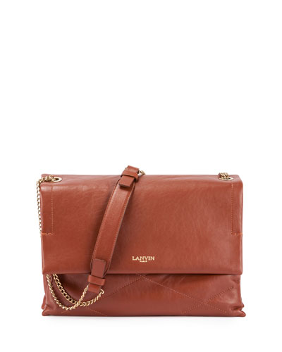 Sugar Medium Chain Shoulder Bag, Cognac
