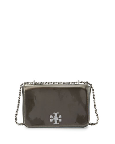 Mercer Metallic PVC Shoulder Bag, Anthracite