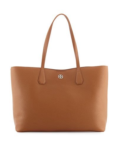 Perry Leather Tote Bag, Bark