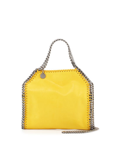 Falabella Mini Tote Bag, Yellow