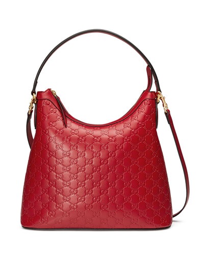 Guccissima Medium Hobo Bag, Red