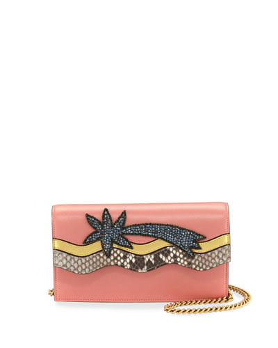 Broadway Shooting Star Clutch Bag, Pink/Multi