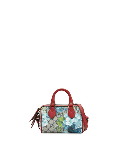GG Blooms Mini Top-Handle Satchel Bag, Blue/Multi