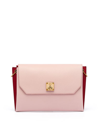 Milla Small Leather Clutch Bag, Pale Mauve