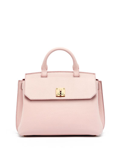 Milla Medium Convertible Satchel, Pale Mauve