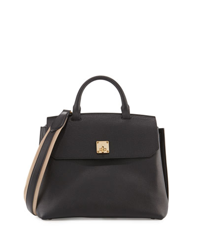 Milla Large Convertible Satchel, Black