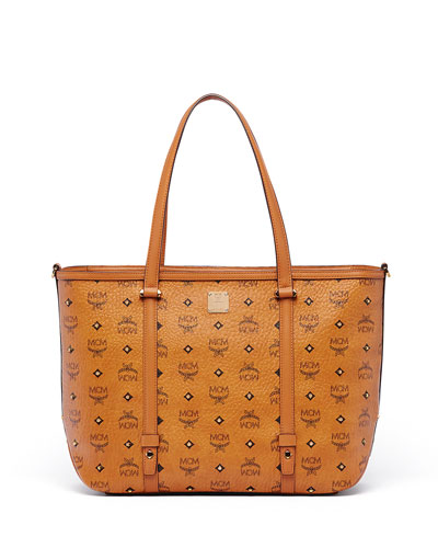 Gold Visetos Medium Shopper Bag
