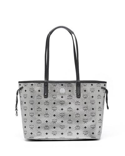 Medium Reversible Shopper Bag, Silver