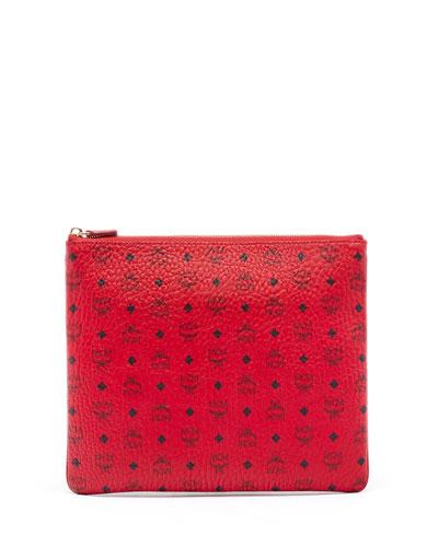 Color Visetos Medium Pouch Bag, Ruby Red