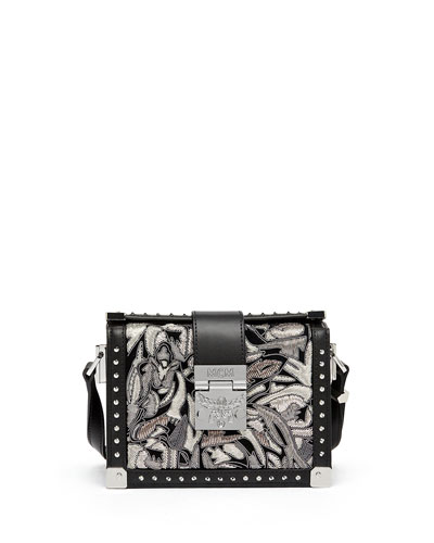 Mitte Mini Brocade Crossbody Bag, Black