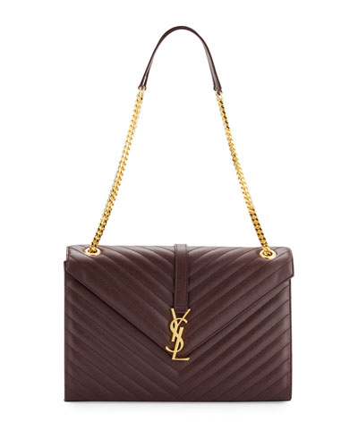 Monogram Large Kate Chain Shoulder Bag, Bordeaux