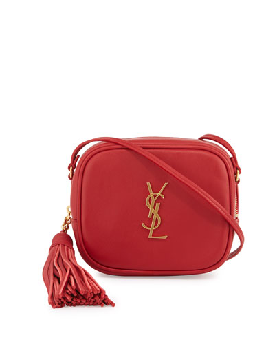 Monogram Blogger Crossbody Bag, Red