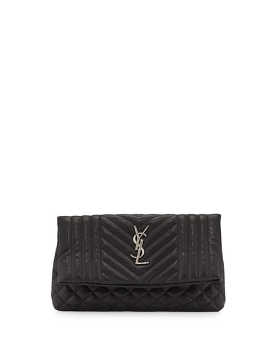Monogram Tri-Quilt West Hollywood Clutch Bag, Black