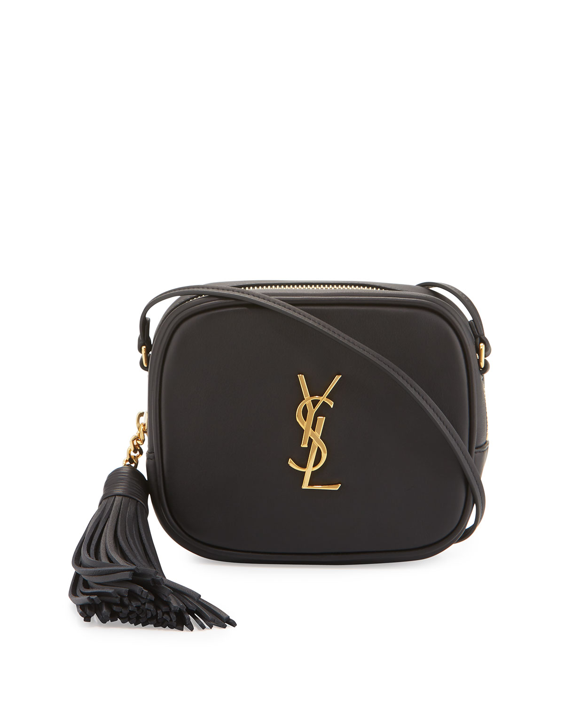Monogram Ysl Blogger Crossbody Bag, Black in Noir