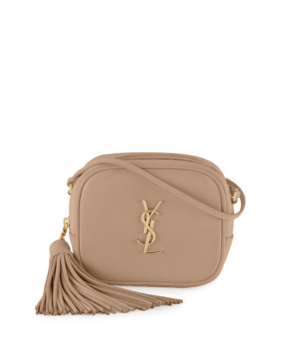 Monogram Blogger Crossbody Bag, Beige