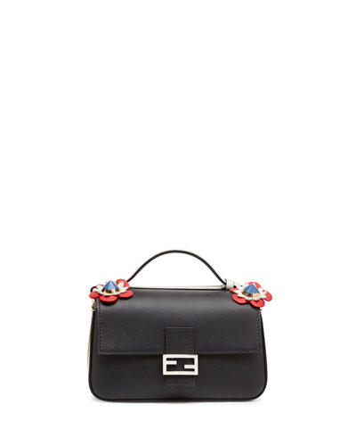Baguette Micro Double-Sided Bicolor Bag, Tan/Black
