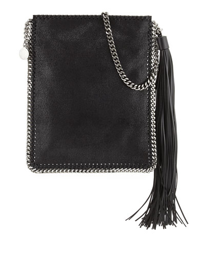 Falabella Tassel Fringe Shoulder Bag, Black