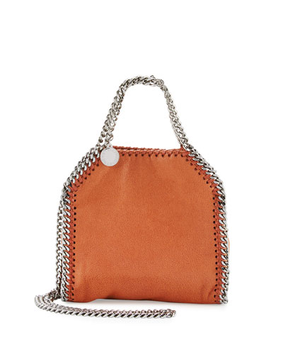 Falabella Tiny Shoulder Bag, Brandy
