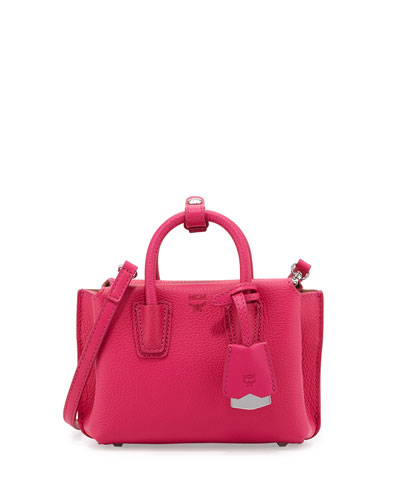 Milla X-Mini Leather Tote Bag, Beetroot Pink