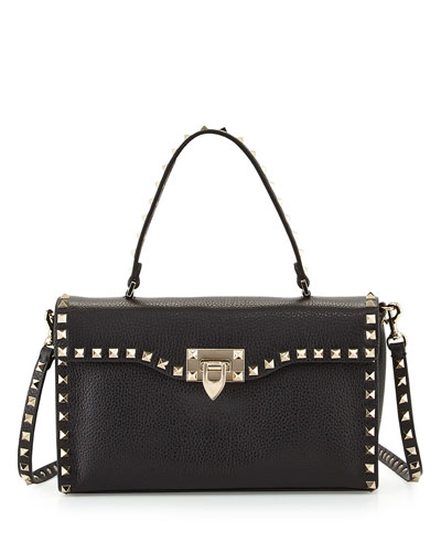 Rockstud Small Single-Handle Satchel Bag, Black