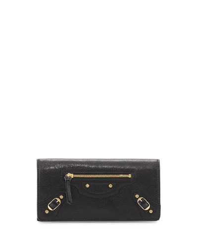 Classic Gold Money Wallet, Black