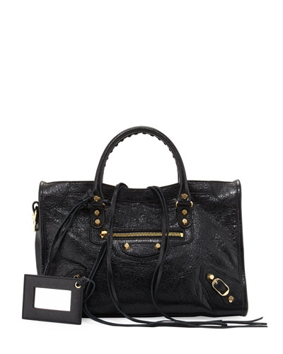 Classic Gold City Small Satchel Bag