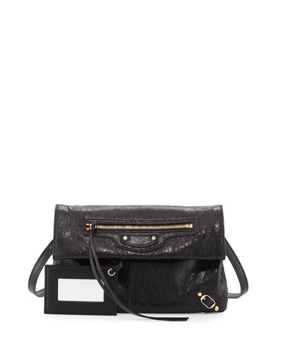 Classic Gold Mini Envelope Crossbody Bag