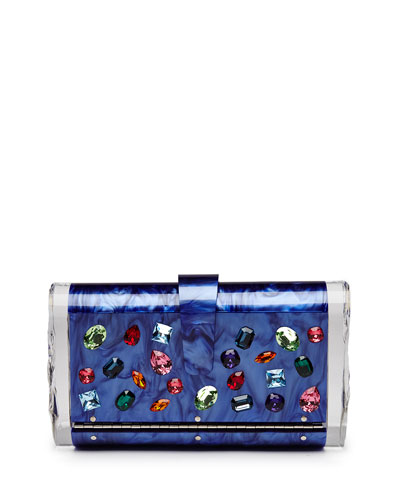 Lara Jewelie Clutch Bag, Royal Multi