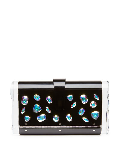 Lara Jewelie Clutch Bag, Black Multi