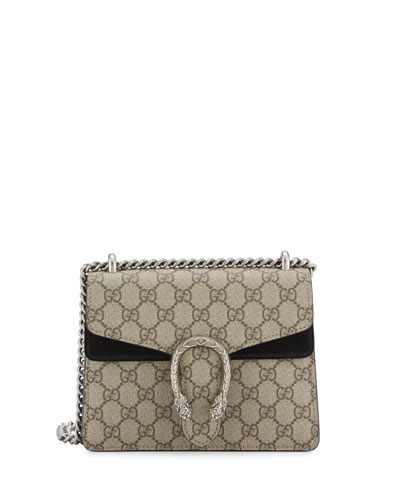 Dionysus GG Supreme Mini Shoulder Bag, Beige/Black