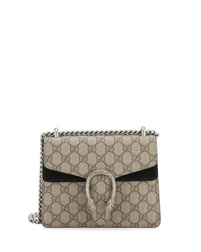 Dionysus GG Supreme Mini Shoulder Bag, Beige/Black