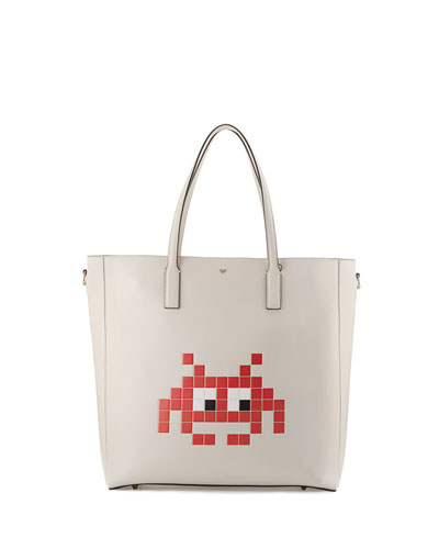 Ebury North-South Space Invader™ Tote Bag, White
