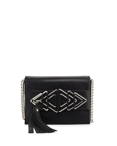 Nina Sensua Mini Crossbody Bag, Black