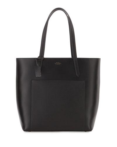 Panama North-South Zip Tote Bag, Black