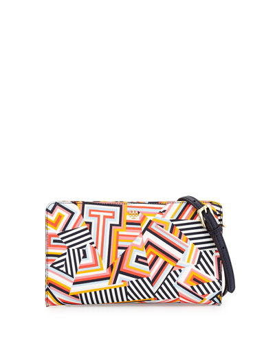 Kerrington Printed Crossbody Wallet, Multi