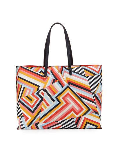 Kerrington Square Printed Tote Bag, Multi