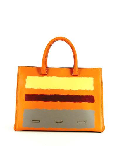 Rothko Pandora Leather Tote Bag, Tangerine