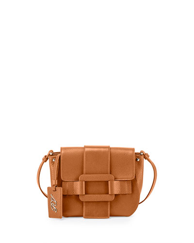 Pilgrim De Jour Leather Crossbody Bag, Cognac