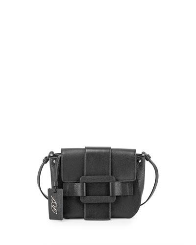 Pilgrim De Jour Leather Crossbody Bag, Black