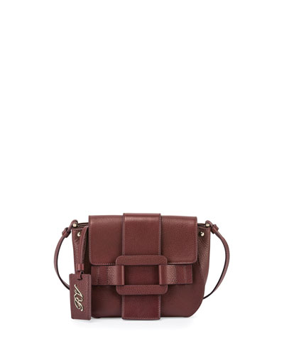 Pilgrim De Jour Leather Crossbody Bag, Burgundy