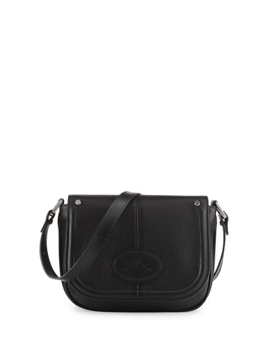 Mystery Small Leather Crossbody Bag, Black