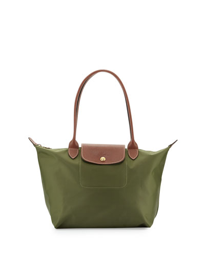 Le Pliage Medium Shoulder Tote Bag, Khaki