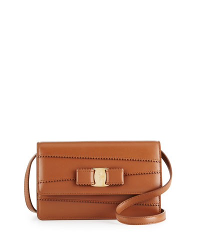 Miss Vara Mini Dentelle-Trim Bag, Ecorce