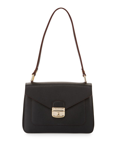 Le Pliage Héritage Shoulder Bag, Black