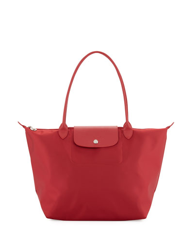 Le Pliage Neo Large Nylon Shoulder Tote Bag, Ruby