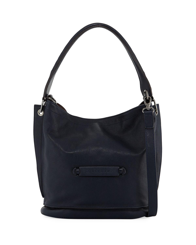 Longchamp 3D Leather Crossbody Bag, Midnight Blue